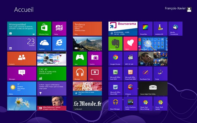 modern UI Bilan dune semaine avec Windows 8