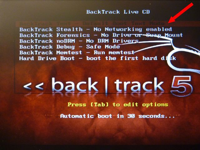 BackTrack Live CD