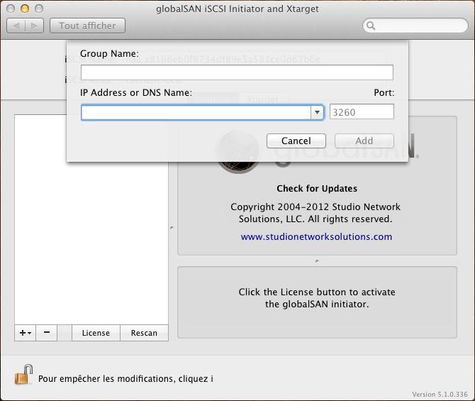 Initiateur iSCSI MacOSX Param 11 Installer 2 serveurs de données (SAN) répliqués avec OpenMediaVault et DRBD