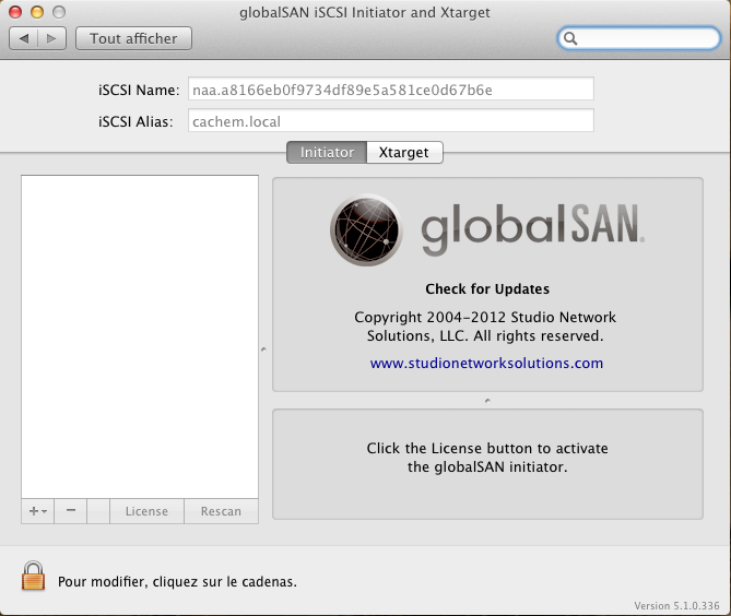 Initiateur iSCSI MacOSX Param 2 Installer 2 serveurs de données (SAN) répliqués avec OpenMediaVault et DRBD