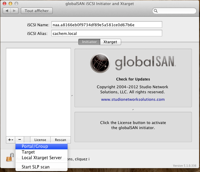 Initiateur iSCSI MacOSX Param 9 Installer 2 serveurs de données (SAN) répliqués avec OpenMediaVault et DRBD