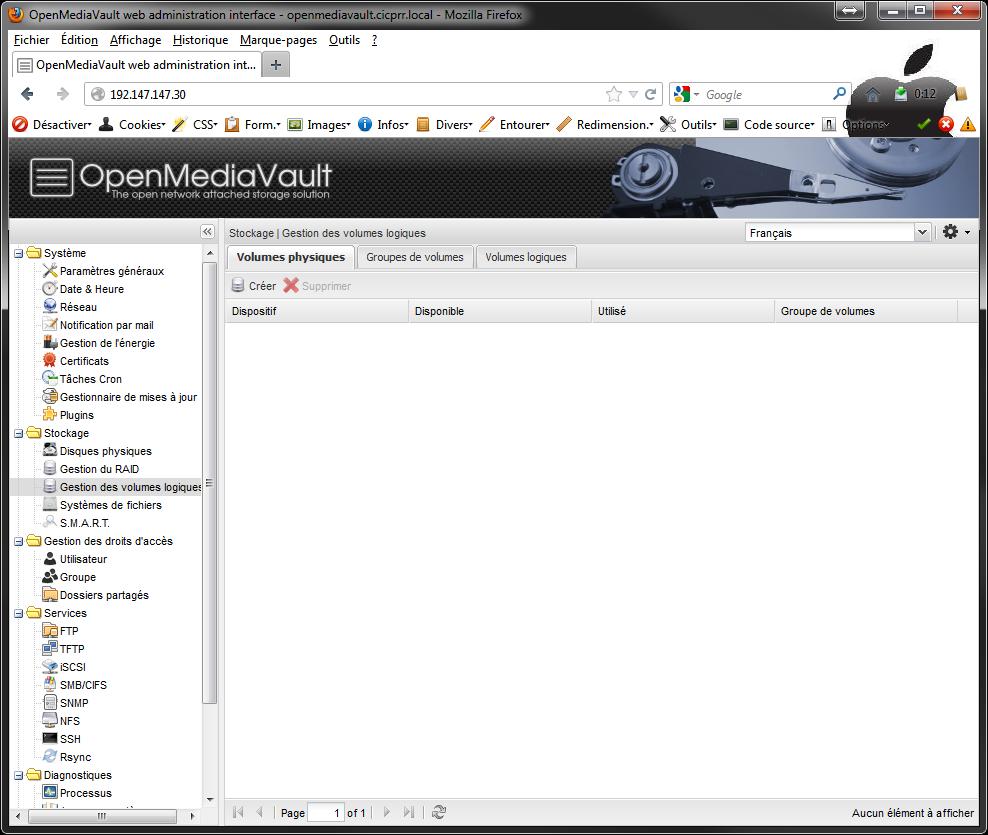 OpenMediaVault LVM1 Installer 2 serveurs de données (SAN) répliqués avec OpenMediaVault et DRBD