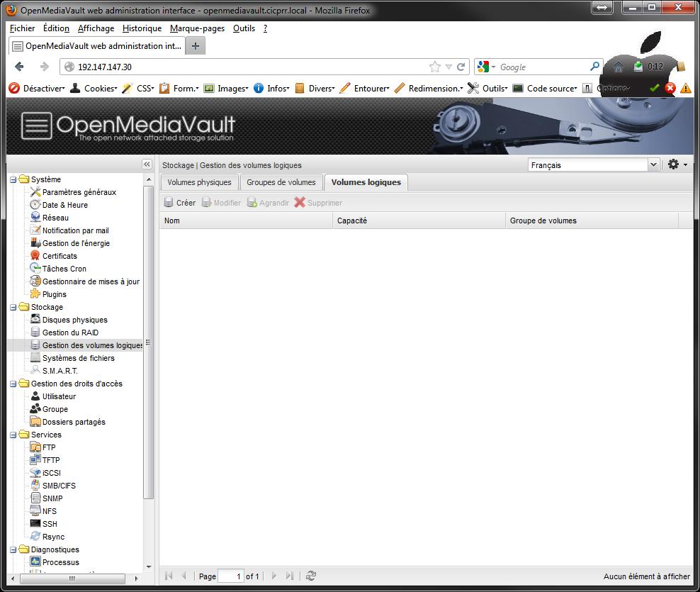 OpenMediaVault LVM LV Installer 2 serveurs de données (SAN) répliqués avec OpenMediaVault et DRBD