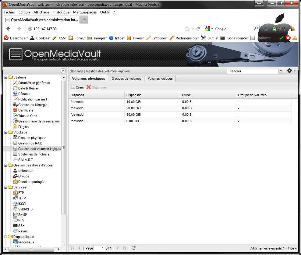 OpenMediaVault_LVM_all_PV_created