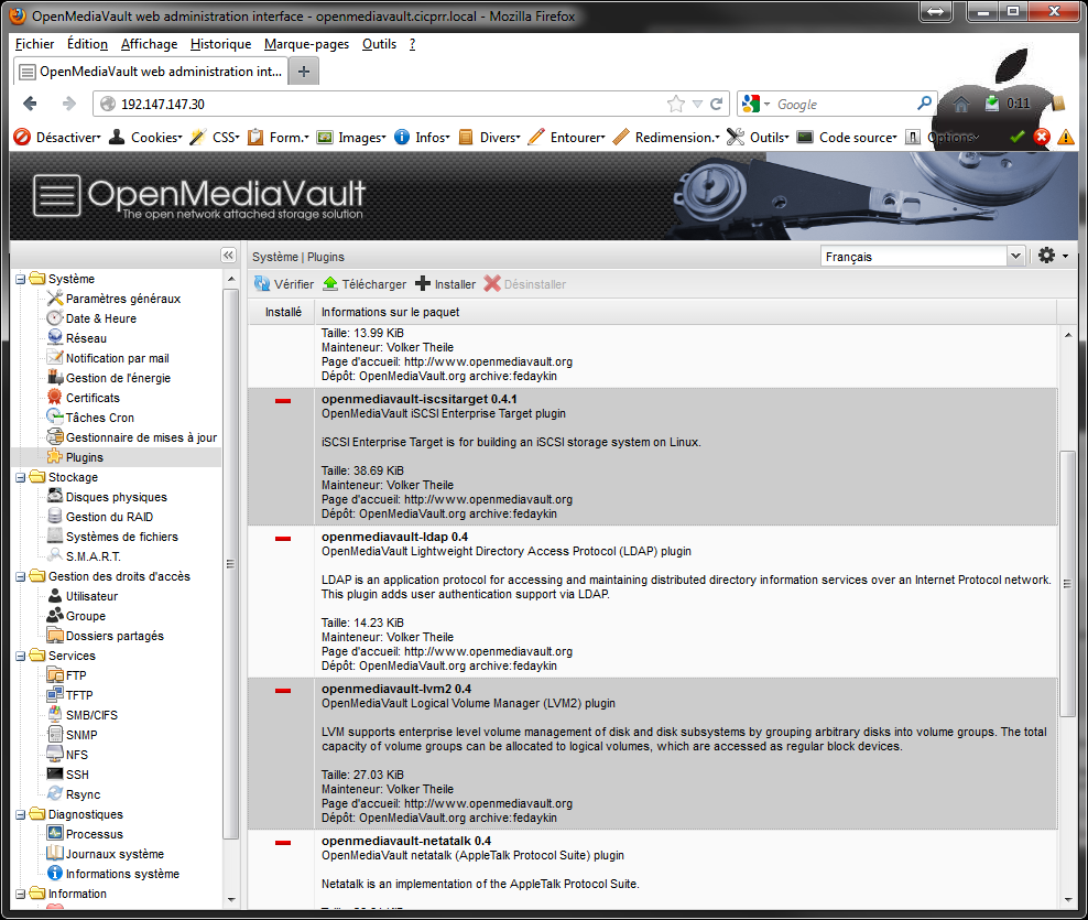 OpenMediaVault plugins Installer 2 serveurs de données (SAN) répliqués avec OpenMediaVault et DRBD