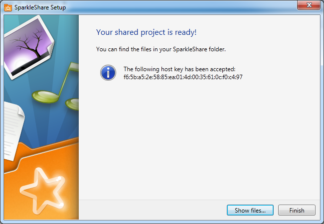 Setup ok Installer SparkleShare, un Dropbox like Open Source