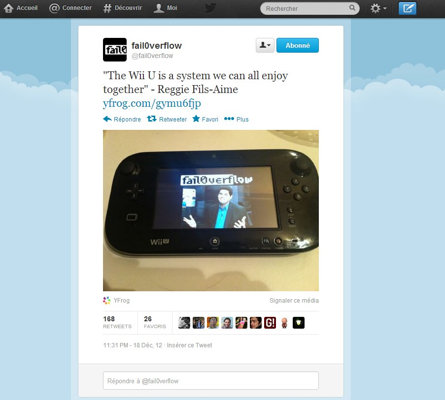 fail0verflow La Wii U crackée ?