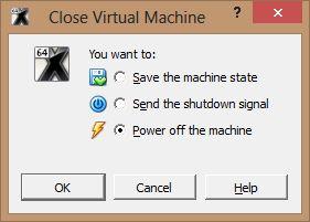fermeture de la machine virtuelle Comment installer OS X sur votre PC avec VirtualBox ?