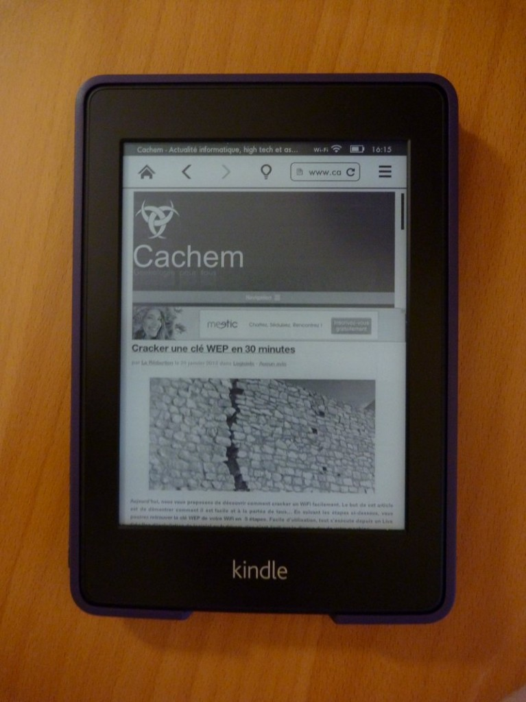 navigateur cachem 767x1024 Test du Kindle Paperwhite
