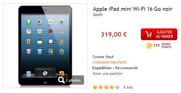 Apple iPad Mini 16Go Bons plans   Tablettes