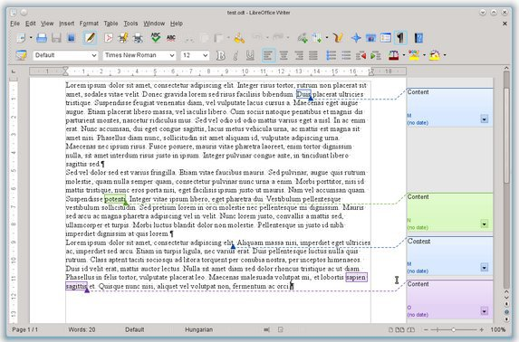Commentaire OpenOffice LibreOffice passe la 4e