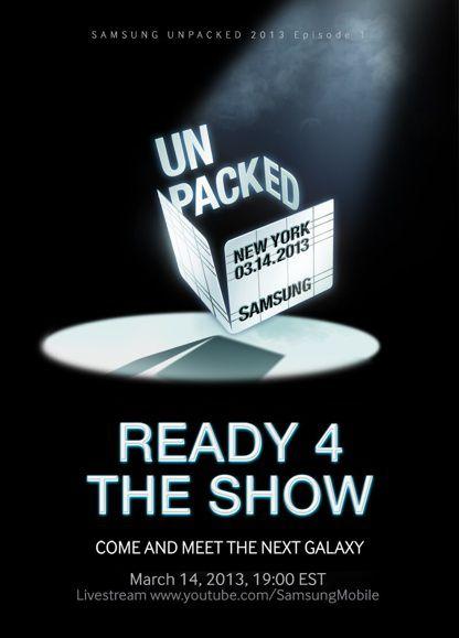Samsung mobile S 4 Présentation du Samsung Galaxy S4, le 14 mars