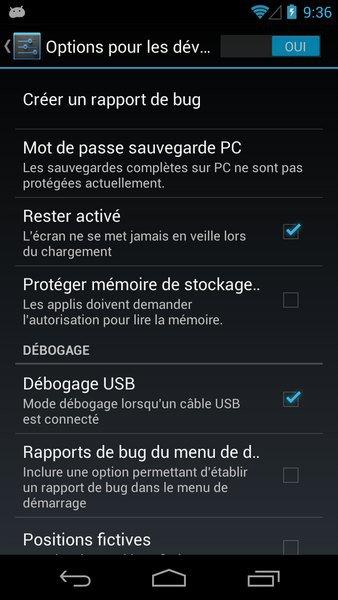 debogage USB