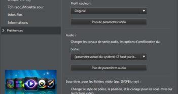 menu parametre powerdvd 13