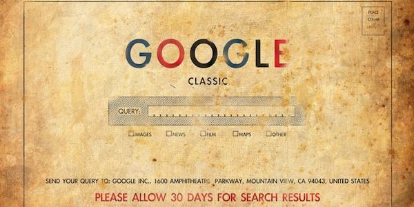 google classic enveloppe