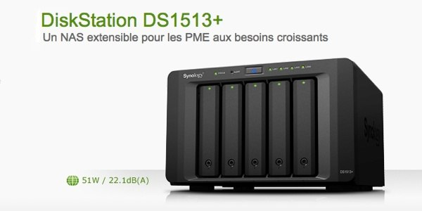 SYNOLOGY DiskStation 1513 plus Synology lance son NAS DS1513+