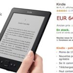 Liseuse Kindle 64 euros