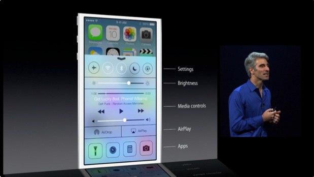 iOS 7 reglages rapides
