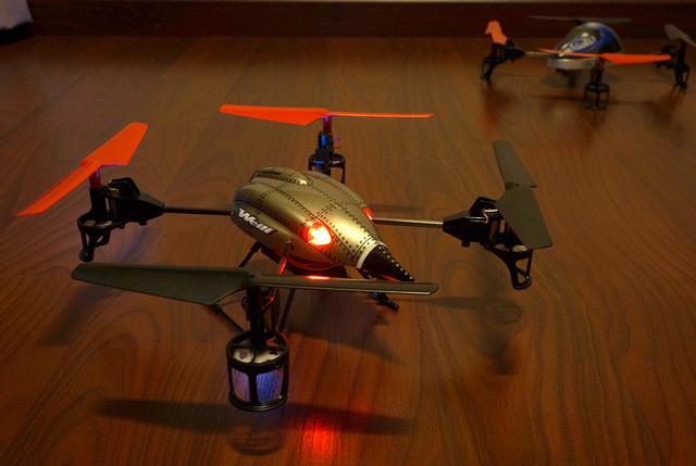 drone allumé