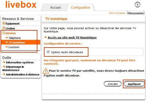 Configuration-livebox2