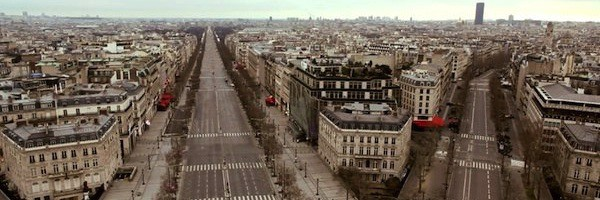 champs elysees vide Paris sans habitant...