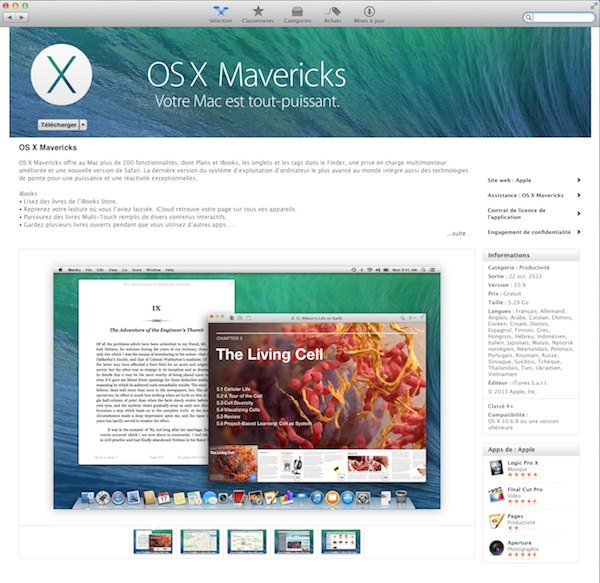 OS X Mavericks Installer OS X Mavericks sur PC
