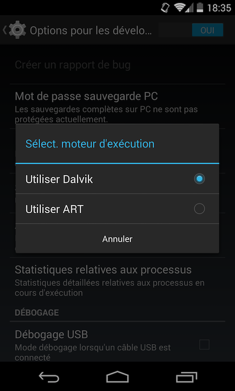 ART-Dalvik-android
