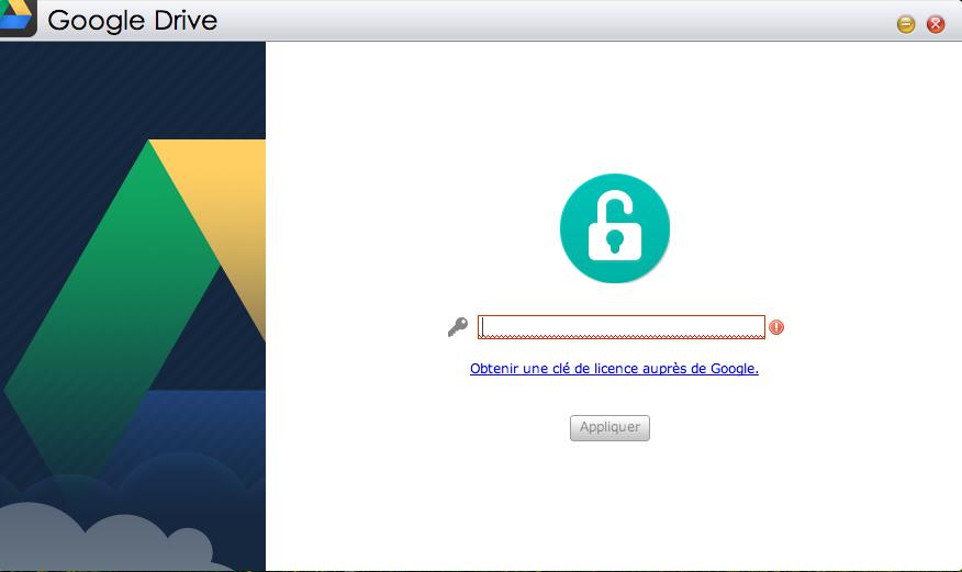 Google Drive accueil