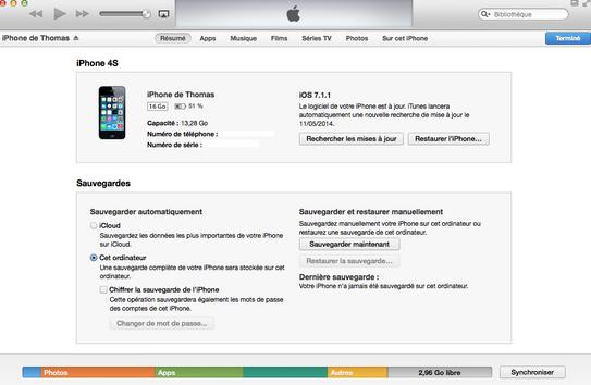 iTunes avant nettoyage