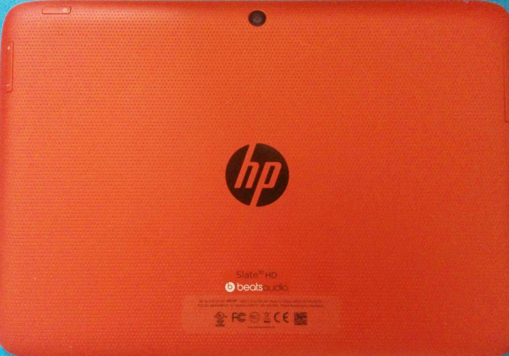HP Slate HD face arrière
