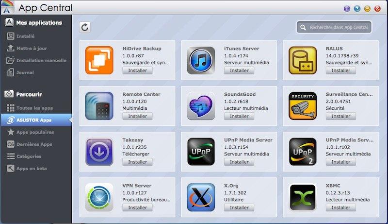 App-Central-ASUSTOR