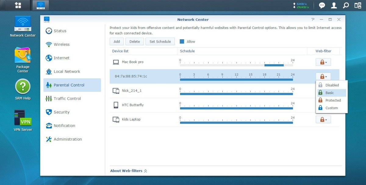 Synology-SRM-parental-control