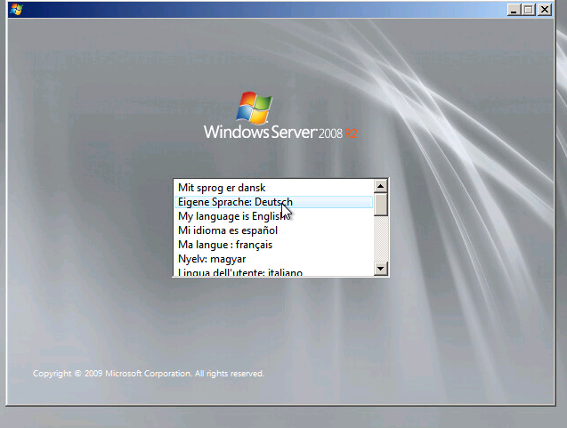 Installation Windows Server 2008R2