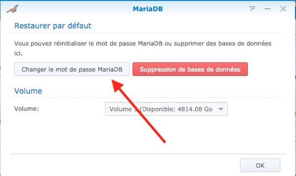 changer-mot-passe-MariaDB-Synology