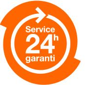 Logo Service 24h garanti
