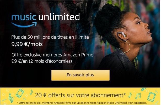 Amazon lance son service de streaming musical en France